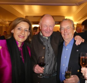 Christina and Andrew Brownsword (centre) with William McCracken, former md of Ling Design last month.