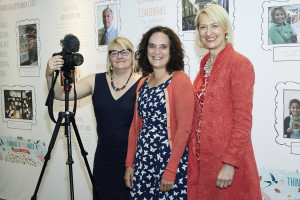 GCA's Sharon Little (right) with (centre) Margaret Briffa of law firm Briffa (which supports the GCA) at last year's PG Live.