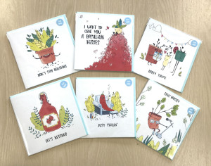 There are six cards in Luna's collection for Paperchase.