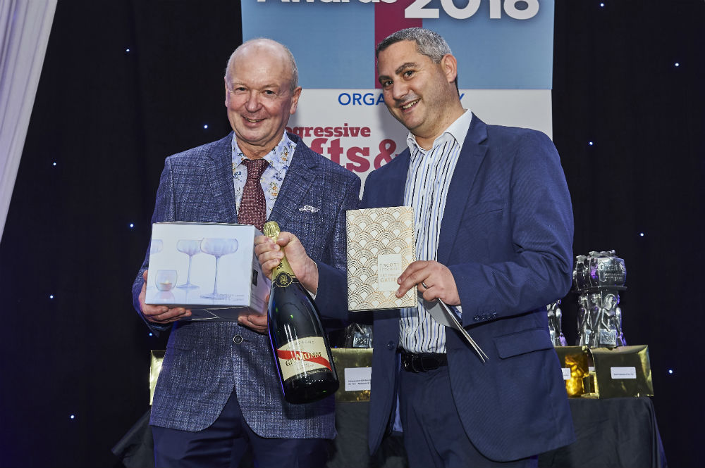 Danilo's md Daniel Prince (right) won the 'Higher or Lower' elimination game, who was presented with the prize of a magnum of champagne, some coupes and a special edition of The Great Gatsby from PG's co-owner Warren Lomax.