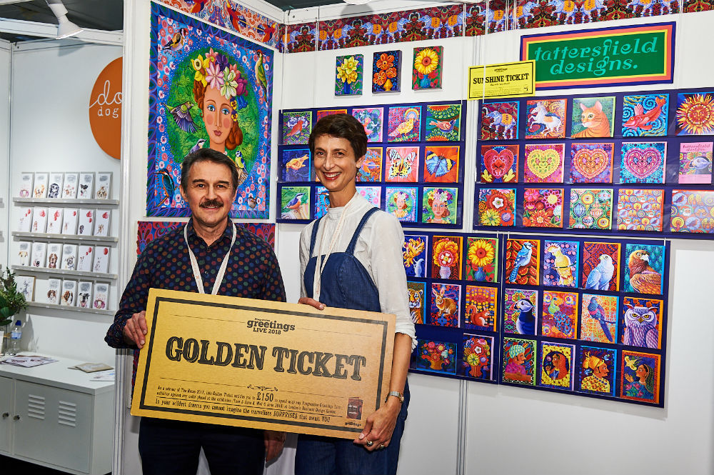 It was gold and silver tickets galore. Tim Reynolds of Medici Gallery, Kensington supersized his Golden Ticket that he spent with Tattersfield Design.