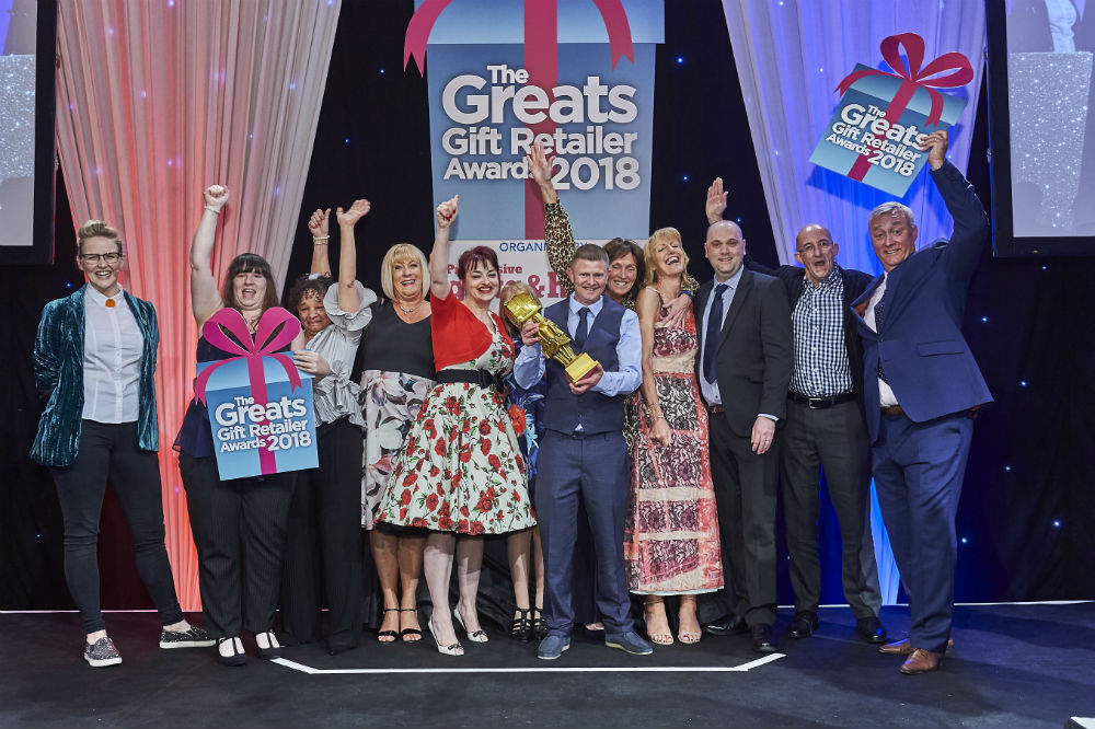 Gift company, Joe Davies won the Gold Best Service to the Independent Gift Retailer at The Greats 2018.