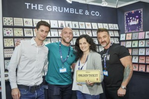 (Far left and right) Postmark's Mark and Leona Janson-Smith were delighted to spend their Golden Ticket with The Grumble Company.