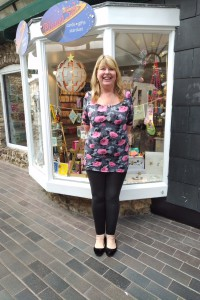 Sally Wilde outside her new shop – Planet Sal.