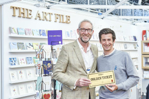 Postmark's Mark Janson-Smith with The Art File's md Ged Mace at PG Live.