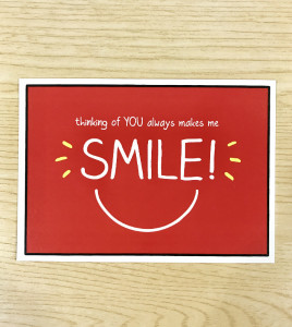 Happy Jackson's upbeat branding and wording on the free postcards will encourage people to get in touch.