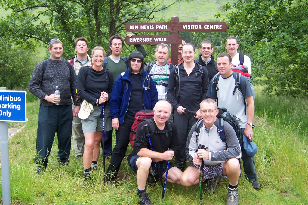 20 years of challenges! The 2005 Ben Nevis group at the start.