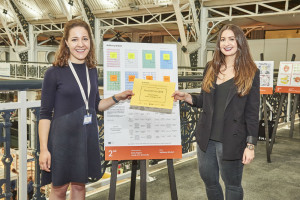 Paperchase's Emma Clooney (left) presented Emily Rogers (second prize winner) with her prize at PG Live.
