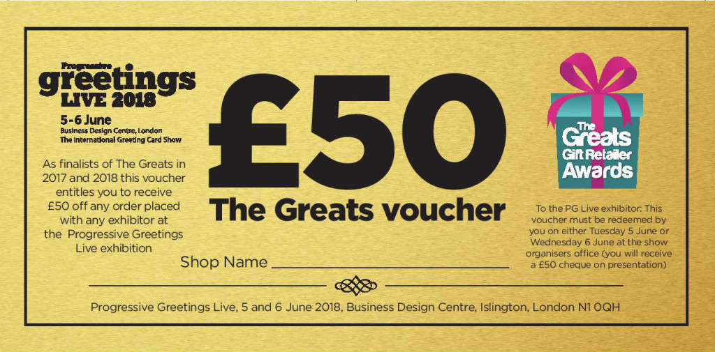 Greats finalists and winners have £50 to spent at PG Live.