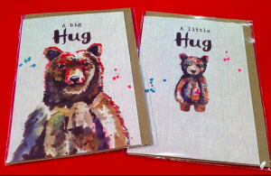 Sarah Kelleher introduced the 'little hug' bear design at the suggestion of Anne to join the 'big hug' design.