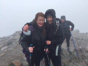 ackie Collins (right) from Cherry Orchard took a break last year to compete the Three Peaks challenge with creative director Beverley Fisher.