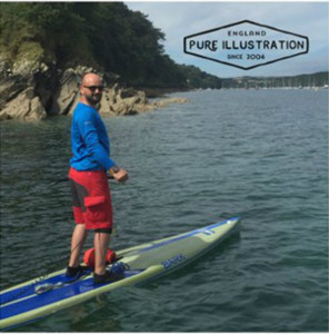 Richard Patey on his paddle board