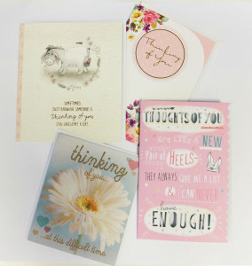 The kit includes cards with captions including Thinking of You.