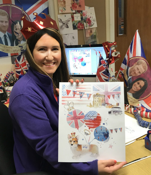 """As Words 'n' Wishes' studio artist Kate Hughes commented about the card she created: """"Every girl loves to feel like a princess! (although most days I feel more like a frog!) I may start wearing my crown every day to work!"""""""
