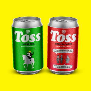 Modern Toss' initial two craft beer products.