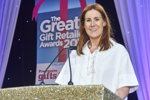 As sponsor of the recent Greats gift retailer awards, Janie Cook presented the trophy for Independent Gift Retailer of the Year – Midlands and Wales, (which was won by Mooch Gifts and Home, Stourport on Severn).