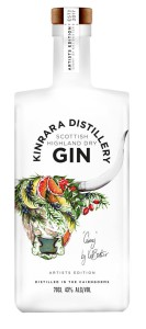 Kat Baxter's artwork now graces Kinrara Distillery's Limited Edition Artist Gin.