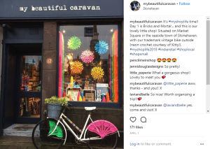 My Beautiful Caravan in Stonehaven takes part in the challenge on Instagram.