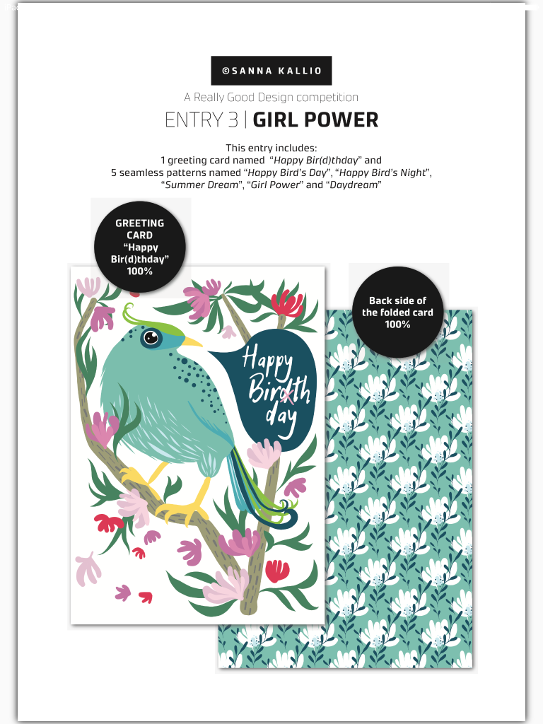Sanna Kallio's Girl Power design collection is in the finalists line-up.