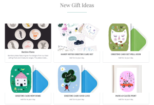 Visitors to the site can explore individual gift and card ideas.