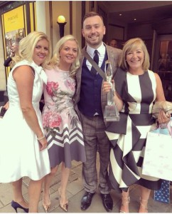 James with Something Special of Widnes' co-owners Helen Colley and Claire Lenton with shop manager Tracy Wynne at The Retas.