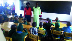 The schoolroom that Wrendale Designs funded in Kenya is now being put to good use.