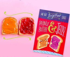 The publisher made the most of promoting National Peanut Butter and Jelly Day yesterday on social media channels!