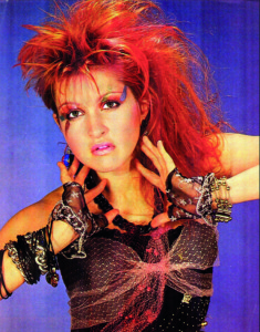 Cyndi Lauper added her own colour to the 80s!