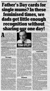 Tom Utley's column in the Daily Mail.