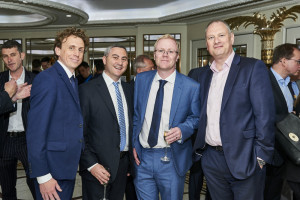 Danilo's Daniel Prince (second left) and Brett Smith (far right) with colleagues Martin Carter (second right) and Dan Grant.