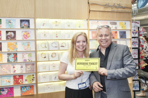 Miles Robinson spent House of Cards' Sunshine ticket with Victoria Prior, founder of Clear Creations at the show.