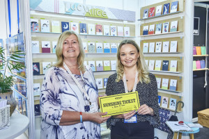 Anne Barber (left) at PG Live last week, spending her Sunshine ticket with LucyAlice.