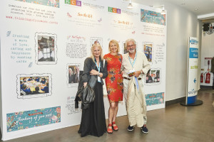 Sharon Little (centre) with Jennie and John Procter of Scribbler at this year's PG Live.