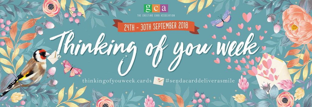 Thinking of You Week signage will hang at Harrogate Home & Gift directing visitors to the Greetings Gallery.