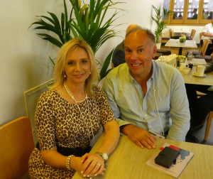 Cardzone's managing director Paul Taylor and his assistant Sally Wyles.