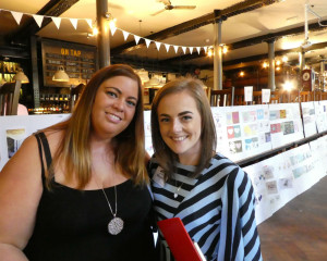 Jenni Taylor (left) and Abigail Ball at The Henries judging recently.