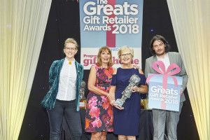 Alligator Pear, owned by Maggie Thornton (second right) won The Greats Independent Gift Retailer of the Year – Home Counties, South and South East