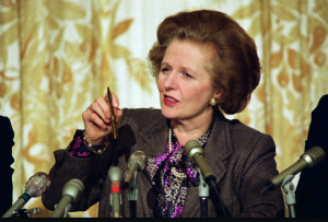 80s' Prime Minister Margaret Thatcher imposed her iron fist on the nation.