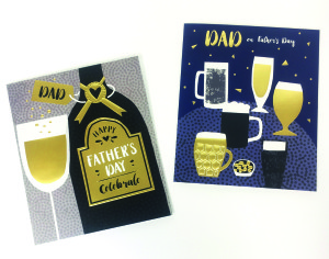 Above: For golden dads, a design from Paper Rose's Capisco range.