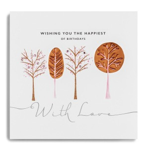 Simple with striking copper foiling the Copper Leaf range from Janie Wilson.