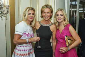 Cherry Orchard managing director, Jackie Collins (centre) is delighted by the response to the publisher's new addition. Pictured here at last year's Retas awards with retailers Claire Leyton and Helen Colley from Hallmark Widnes.