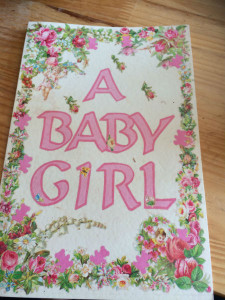 A card sent to celebrate the birth of a baby girl sparked a trip down memory lane for Helen Pallen.