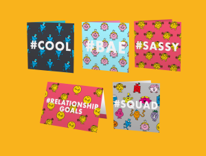 Some of Moonpig's Mr Men and Little Miss designs
