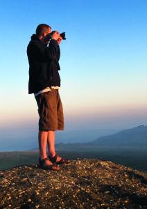 Scott Morrish what he loves doing best, taking photos of nature.