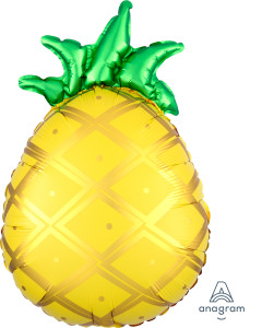 This Totally Tropical Anagram pineapple balloon adds a touch of colour to any party whatever the weather.