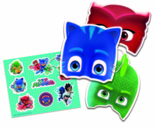 PJ Masks partyware is available from Gemma's online trade store as well as its salesforce.