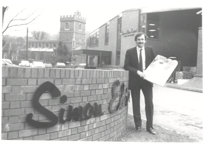 Above: Simon outside the 'new' warehouse, which was opened in 1982.