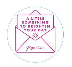 Above: The sticker that Paperchase is giving out to its customers.