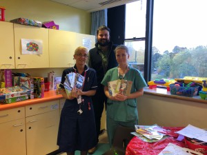 Above: The Art File's James Mace inNottingham Children's Hospital as part of its Thinking of You Week activities.