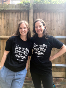 Above: We Are In Good Company's co-founders Lucy Wilkins (left) and Sara Bender.